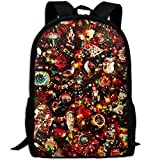SDEYR79 Shinning Christmas Jewelry Canvas Laptop Backpack Cute School College Shoulder Bag for Women Men