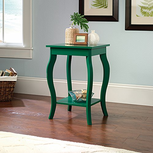 "Sauder 420134 Table, 15.748"" L x 15.748"" W x 23.622"" H, Green Pantone"