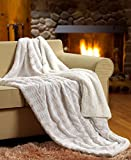 Tache White Ivory Super Soft Warm Polar Faux Fur with Sherpa Throw Blanket - Best Reviews Guide