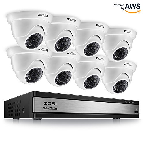 ZOSI 720p 16 Channel Security Camera System,16 Channel Full HD