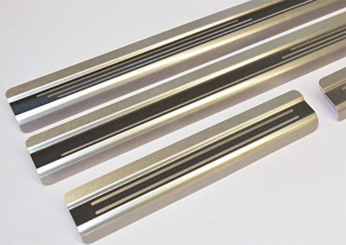 2111-703 WGS Einstiegsleisten Einschtiegschutz Lackschutzleisten mit Abkantung Titan auf AluNox/®