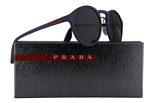 Prada PS01SS Sunglasses Opal Blue Rubber w/Grey 53mm Lens VHE1A1 SPS01S PS 01SS SPS 01S (Prada Men Sale Sunglasses For)