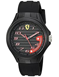 Ferrari Men's 0830288 Laptime Analog Display Japanese Quartz Black Watch