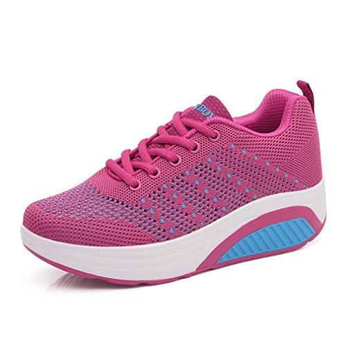 de Zapatillas de fuerte Deporte Mujer LFEU rosa Lona q74t84wx