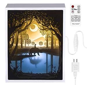 Amazon.com: Papercut Light boxes, 3D Shadow Box Led light