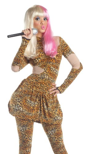 Party King Sexy Rap Star Leopard Print Celebrity Halloween Costume -