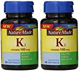 Nature Made Vitamin K2 Softgel, 100 mcg – 2 bottles each of 30 Softgels
