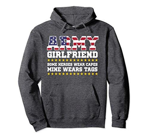 Unisex Proud Army Girlfriend Hoodie Military Girlfriend Hoody Hero Small Dark Heather