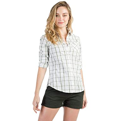 Camisa De Tecido Xadrez Off White Verde  Amazon.com.br  Amazon Moda 6c5555737ab3b