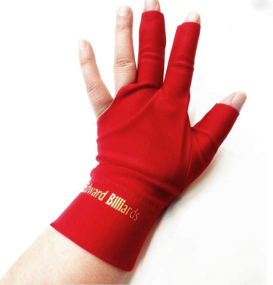 PROKTH Snooker Special Billiard Guantes de Tres Dedos Finger Glove Pool Snooker Cue Glove 1pcs