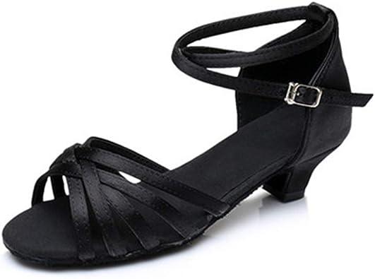 Gold-EU 37//5 M US Big Kid Girls Soft-Soled Glittering Latin Ballroom Dance Shoes