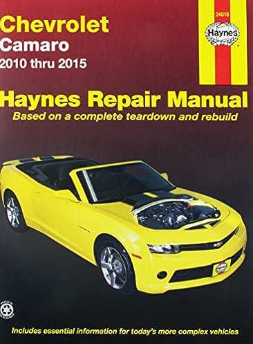 chevrolet camaro 10 15 haynes automotive haynes publishing rh amazon com 2010 chevrolet camaro ss owners manual 2010 chevy camaro 2ss owners manual