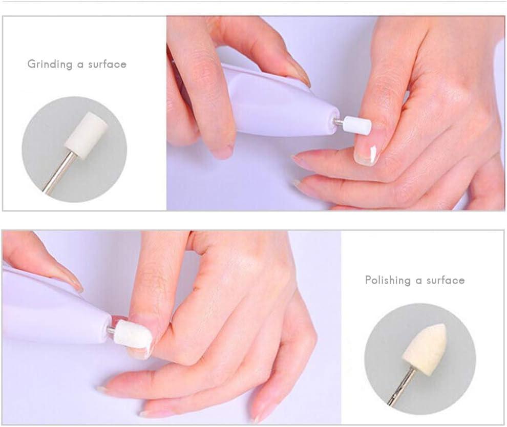 EqWong Kit de taladro de uñas eléctrico, máquina de taladro de uñas, juego de pulidor de uñas eléctrico portátil para el hogar, herramienta de pulido de uñas personal para manicura y pedicura: