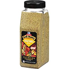 A blend of onion, garlic, red bell pepper, sun-dried tomato and chives, our McCormick Grill Mates Vegetable Seasoning is specially made for grilling. Effortlessly enhancing the delicious flavor of vegetables and vegetable dishes, you'll get a...
