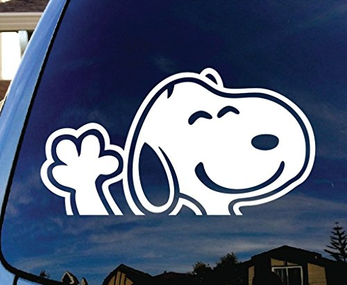 snoopy typing decal - 2