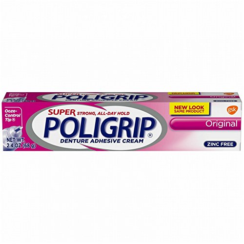 SUPER POLIGRIP Denture Adhesive Cream Original 2.40 oz ( Pack of 12)