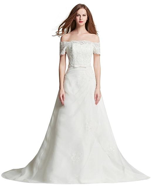 hochzeits-shop-hamburg - Vestido de novia - trapecio - Manga corta - Mujer