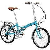 Durban Bike 20-Inch Wheel Metro Special Edition Folding Bike, Turquoise