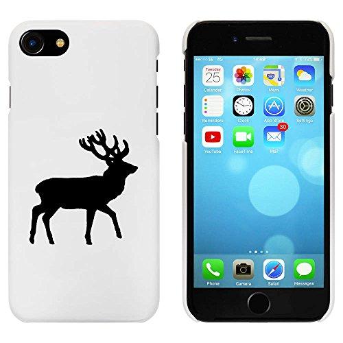 Blanc 'Cerf Silhouette' étui / housse pour iPhone 7 (MC00070826)