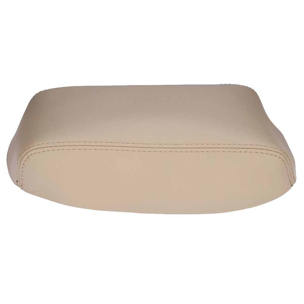 QKPARTS Armrest Center Console Leather Synthetic Cover for Toyota Highlander Beige
