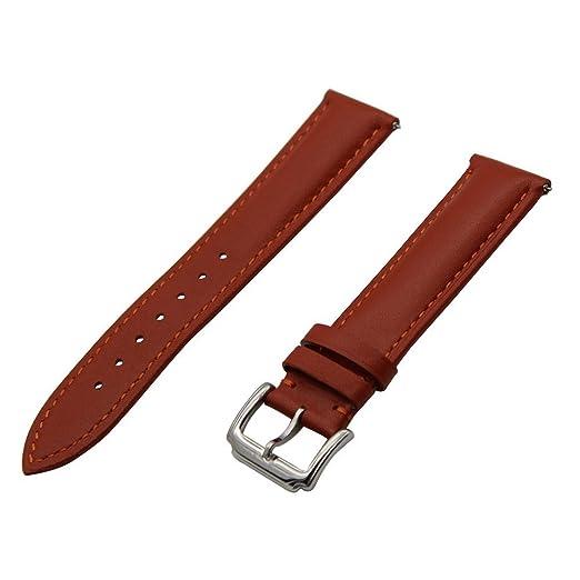 2 opinioni per TRUMiRR 18 mm Sgancio Rapido del Cinturino 1 ° Strato Vitello Cinturino in Vera
