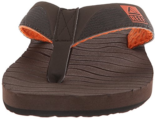 Rev Mens Round Sandal Brun / Orange ...