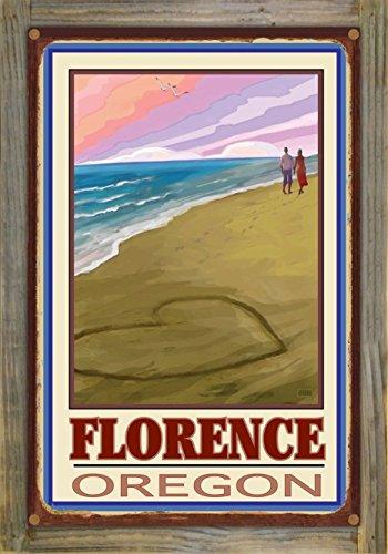 Northwest Art Mall Florence Oregon Love On Coast Rustic Metal Print on Reclaimed Barn Wood by Joanne Kollman (12