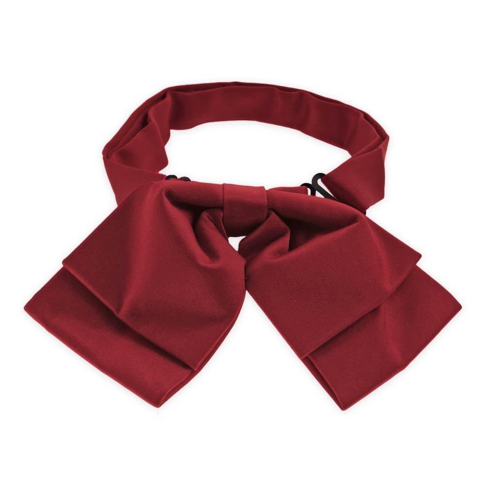 TieMart Claret Floppy Bow Tie