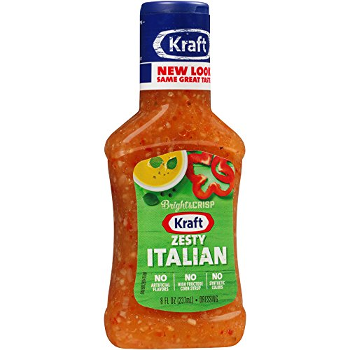 Kraft Zesty Italian Dressing (8 oz Bottles, Pack of 9)