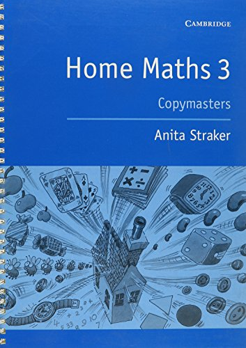 Home Maths Pupil's Book 3: Photocopiable Masters ()