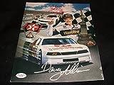 Davey Allison Auto Signed Vintage 9x12 Photo JSA COA C