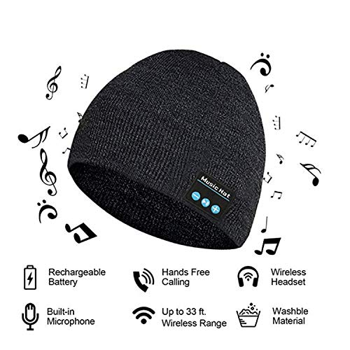 Upgraded V4.2 Bluetooth Beanie Hat LUXISE Headphones Wireless Headset Winter Mus