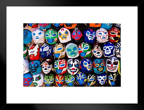 - Poster Foundry Mexican Wrestling Masks on Display San Francisco Photo Art Print Matted Framed Wall Art 26x20 inch
