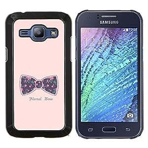 Dragon Case - FOR Samsung Galaxy J1 J100 J100H - bowtie bow pink text floral baby purple - Caja protectora de pl??stico duro de la cubierta Dise?¡Ào Slim Fit