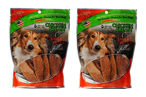 Carolina Prime - Chicken Breast & Sweet Tater Fillets (1lb.) - Naturally Nutricious Dog Treats - 2 Pack