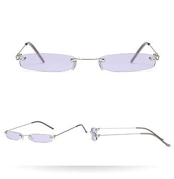 KOMNY Gafas de Sol de la Vendimia de Las Mujeres pequeñas ...