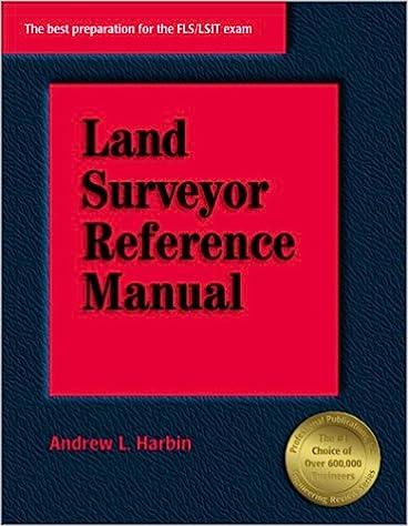 Land Surveyor Reference Manual Andrew L Harbin Harbin