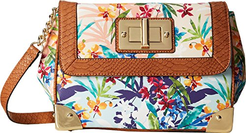 Aldo Heybrock Cross Body Bag Tropical Floral Print One Size
