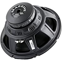 Massive Audio ECO12S4 - 12 Inch Car Audio 500 Watt ECO Series Subwoofer ,Single 4 Ohm, 6mm Top Plate, Steel Basket