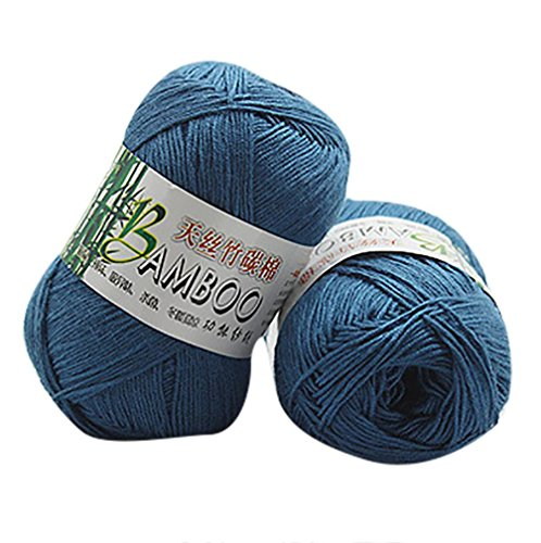 GreatFun 100% Bamboo Cotton Warm Soft Natural Knitting Crochet Knitwear Wool Yarn 50g for Scarves ,Sweater,Blanket (B)