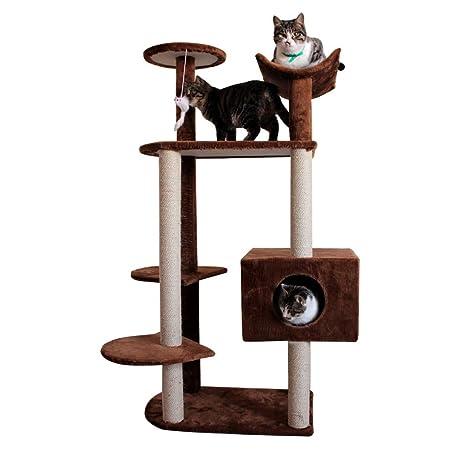 Árbol para Gatos Rascador con nidos, Cat Tower/Muebles de ...