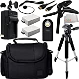Advanced Accessory Kit for the Canon T5i 700D T4i 650D T3i 600D T2i 550D SLR Cameras SSE Kit Includes 2 Replacement LP-E8 Batteries + AC/DC Rapid Home & Travel Charger + Wireless Remote + Mini HDMI Cable + Full Size Tripod + MORE