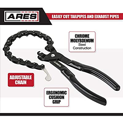 ARES 15009 - Exhaust Pipe Cutter - Cuts 3/4-Inch to 3 1/4-Inch Tailpipes and Exhaust Pipes - 15 Blades Require Only 1/4 Turn for Finished Cut - Suitable for On- and Off-Vehicle Use: Automotive