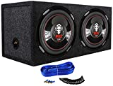 2) Boss P126DVC 12' 4600W Car Power Subwoofers + Dual Sealed Sub Box Enclosure