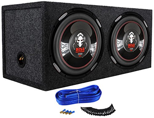 "2) Boss P126DVC 12"" 4600W Car Power Subwoofers + Dual Sealed Sub Box Enclosure"