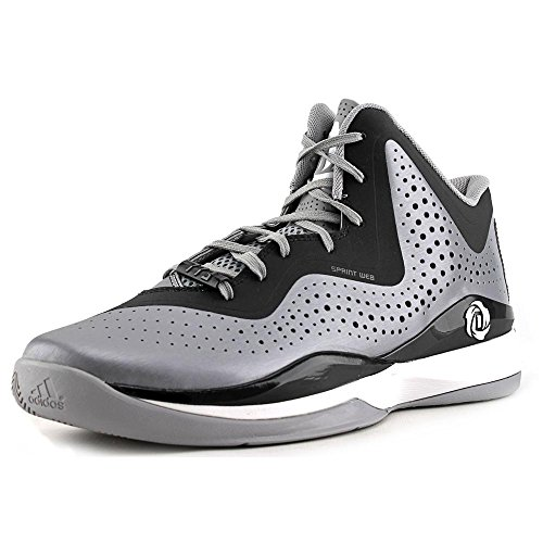 adidas D Rose 773 III hombres Basketball zapatos 11 blanco-negro Aluminum-Black-White