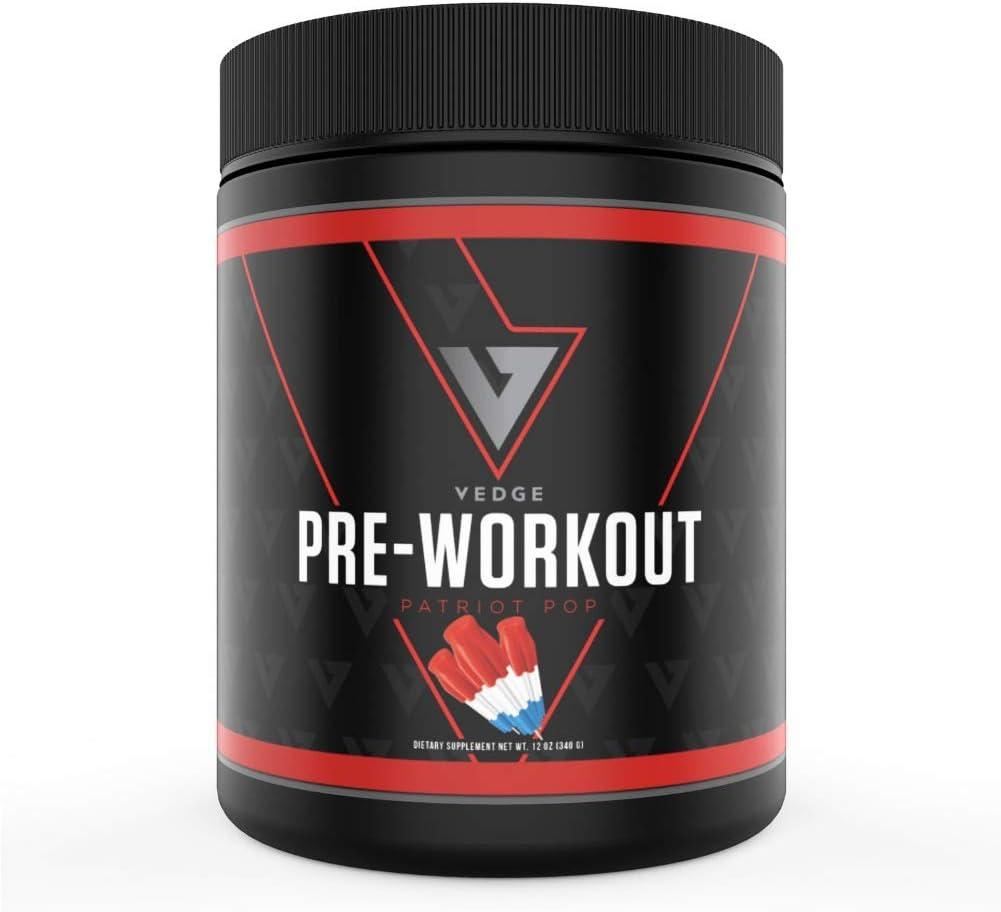 Vedge Nutrition Patriot Pop Pre- Workout | Vegan Pre-Workout | Dairy Free, Soy Free, Non-GMO | Long Lasting Energy, No Crash | 40 Servings
