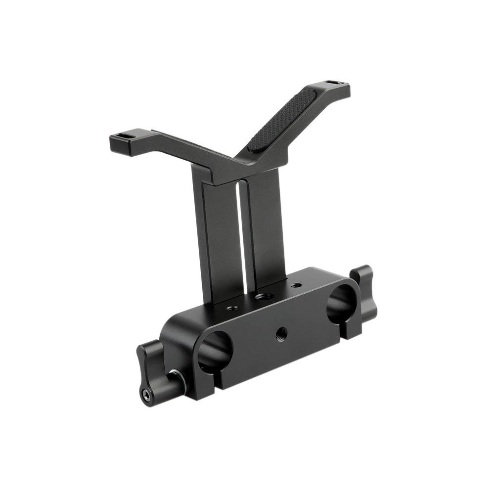 NICEYRIG Long Lens Support Bracket Height Adjustable with 15mm Rod Clamp for DSLR Camera Shoulder Rig by NICEYRIG