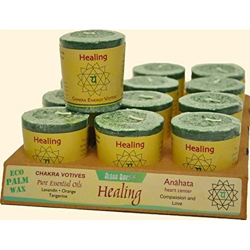 Candle Votive Healing Green 2 Ounces (12 Count)