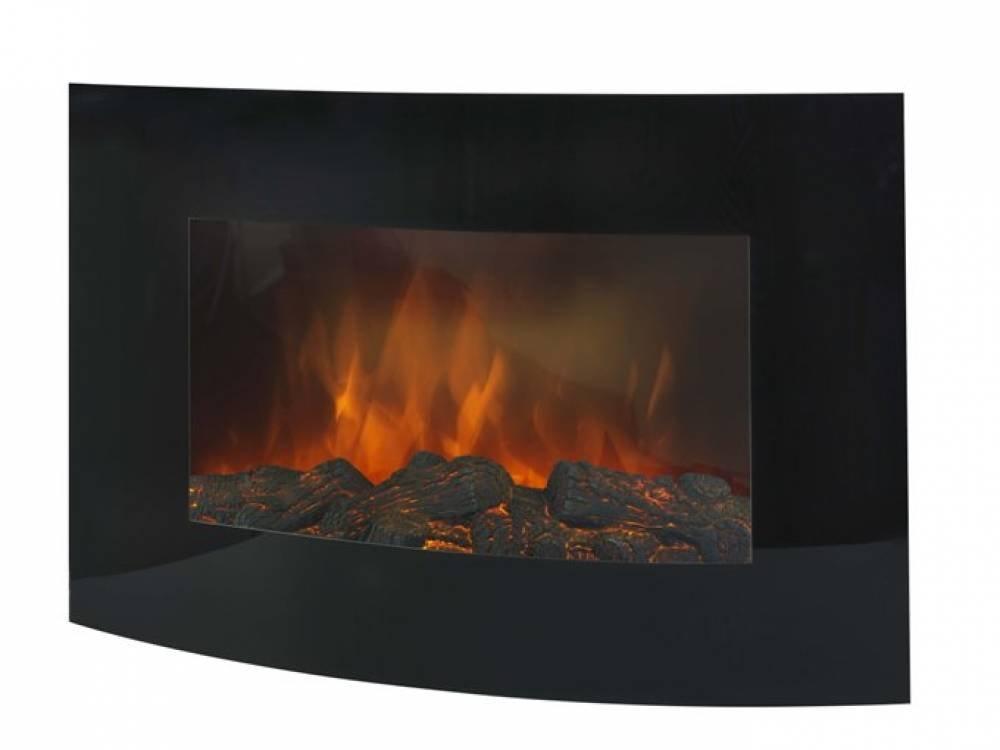 Euromac Valencia Wall-Mountable Fireplace Electric BLACK–Kamin (883mm, 145mm, 560mm, 17.7kg) 145mm 560mm 17.7kg) 36.323.4
